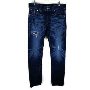 True Religion Skinny Flap Jeans. Size: 33
